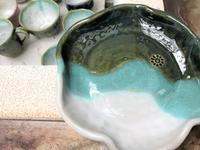 【作品ギャラリー ✨織部釉多用鉢】 - 出張陶芸教室げんき工房