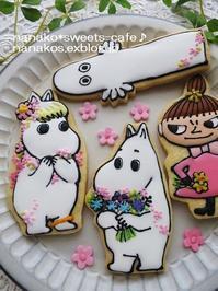 ムーミンのアイシングクッキー - nanako*sweets-cafe♪