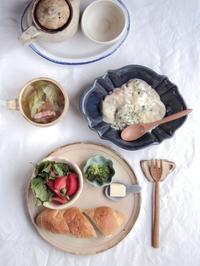 かきのクリーム煮の朝ごはん - 陶器通販・益子焼 雑貨手作り陶器のサイトショップ 木のねのブログ