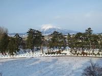 本日(1/22)の岩木山と雪の弘前公園 - 弘前感交劇場