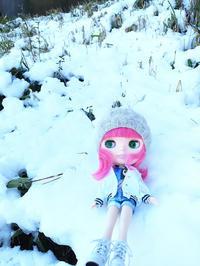 雪の中でリリカちゃんを外撮り - T's Photo Diary2(Grass Field*)