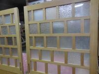 引き違い戸のデザインガラス - 手作り家具工房の記録
