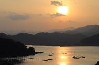 紀伊長島に沈む夕日 - みちはた写真館フォトギャラリー
