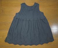 347.黒レースのワンピース - フリルの子供服