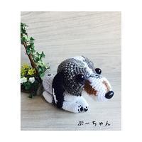 ダックスフンド ブルーダブルダップルの編みぐるみ ついに完成 - ミトン☆愛犬 編みぐるみ Maronyのアトリエ