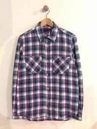BLUE BLUE / インディアンインディゴチェック ロングスリーブ ワークシャツ - Safari ブログ
