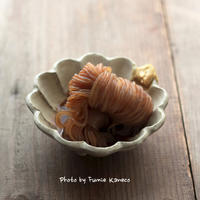ぷりぷりしみしみしらたきの含め煮 - ふみえ食堂  - a table to be full of happiness -