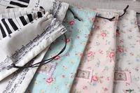 【入園入学グッズ】YUWAキュートなローズと鍵盤柄の大きめ巾着♪ - neige+ 手作りのある暮らし