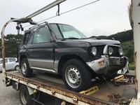 飯能市から事故車をレッカー車で廃車の出張引き取りしました。 - 廃車戦隊引き取りレンジャー