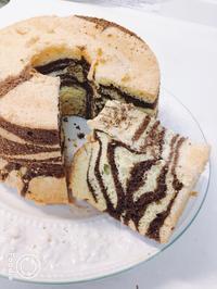 ゼブラシフォンケーキ - 調布の小さな手作りお菓子・パン教室 アトリエタルトタタン