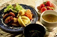 夕食ホタテのフライ - マドモアゼルジジの感光生活
