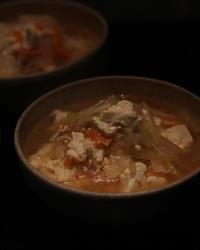 豆腐のチゲ風スープ - Life w/ Pure & Style