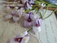 やさしく透き通るようなすみれ♪ - 愛知 豊橋 布花アクセサリーCendrillon