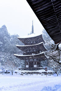 湖東三山西明寺・雪景色 - ちょっとそこまで