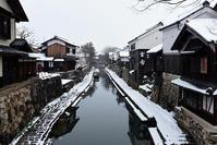 近江八幡・八幡堀の雪景色 - ちょっとそこまで