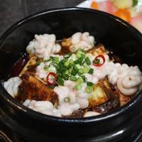 身体ポカポカ、白子の麻婆豆腐と腸詰めご飯 - キムチ屋修行の道
