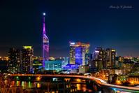 バレンタインバージョンの福岡タワー - Enjoy Life