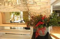 エニタイムフィットネスセンター赤羽北店様 定期活け込みの花 横長のアレンジ - 北赤羽花屋ソレイユの日々の花