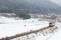 芸備線雪景色 - かにさんの横歩き散歩日記