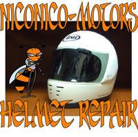 Helmet Repair ヘルメットリペア ヘルメット修理店 ニコニコモータース ARAI RAPAIDE R - HELMET REPAIR ヘルメットリペア ニコニコモータース