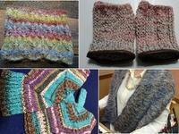 1月のお客様作品ギャラリー♪その2 - 空色テーブル  編み物レッスン