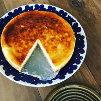 ベイクドチーズケーキを焼きました - Pistachio green