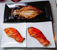 塩鮭と鯵の開きのごはん。 - だれかごはん作って。