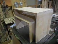 ネストデスクの組み立て - 手作り家具工房の記録
