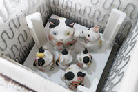 小さい窯がフル回転 - 猫と夕焼け
