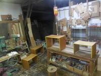 ネストデスクの塗装。 - 手作り家具工房の記録