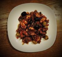鶏とオリーブのラタトゥイユ炒め - なまらや的日々