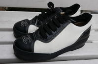 CHANEL white sneaker - carboots