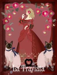 『椿姫』Be My Valentine  /@中目黒space M - まゆみん MAYUMIN Illustration Arts
