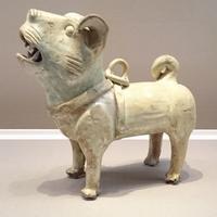緑釉犬☆白黒犬☆茶々丸ごはんは切り干し大根 - 狆の茶々丸 日々是好日