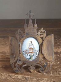 聖地モンセラ 黒いマリア像と少年合唱隊 フレーム/F014 - Glicinia 古道具店