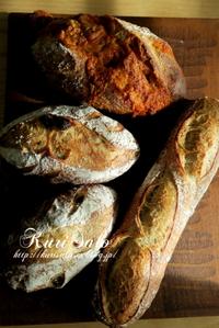 バゲッドカンパーニュ、フルーツカンパ - KuriSalo 天然酵母ちいさなパン教室と日々の暮らしの事