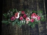 お誕生日に。「やさしい感じ」。ブリキコンテナアレンジメント。2018/01/31。 - 札幌 花屋 meLL flowers