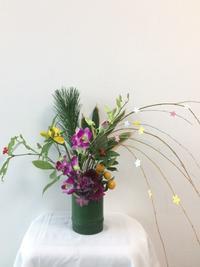 12月 お正月の花 ワークショップ  - 子供いけばな教室