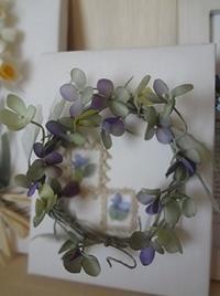 小さなリース - handmade flower maya