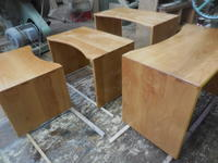 ネストデスクの塗装とローテーブルの脚 - 手作り家具工房の記録