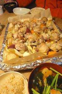 鶏肉と根菜のオーブン焼き - 週末は晴れても、雨でも