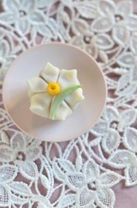立春Homemade Daffodil Nerikiri - お茶の時間にしましょうか-キャロ&ローラのちいさなまいにち- Caroline & Laura's tea break