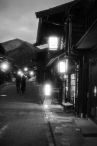 奈良井宿アイスキャンドル祭り2018【モノクロ版】 - よく晴れた雨の日に。