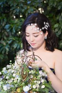 新郎新婦様からのメール星のようにセントグレース大聖堂の花嫁様とバスケットブーケ - 一会 ウエディングの花