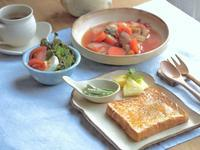 トマトシチュー🍅の朝ごはん - 陶器通販・益子焼 雑貨手作り陶器のサイトショップ 木のねのブログ