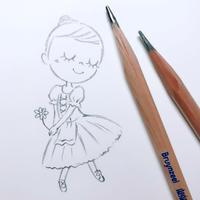 LINEスタンプ制作中♪ - itscorbeille Diary-イツコルベイユ