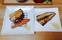 焼き魚とクリームシチューのごはん。 - だれかごはん作って。