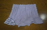 350.パープルのパンツスカート - フリルの子供服