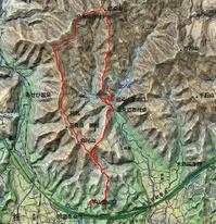雪化粧の高尾山~藍染山~復元道を歩く - 阿讃の山と谷