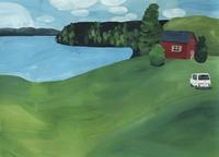 今日の絵「湖の休日」 - vogelhaus note